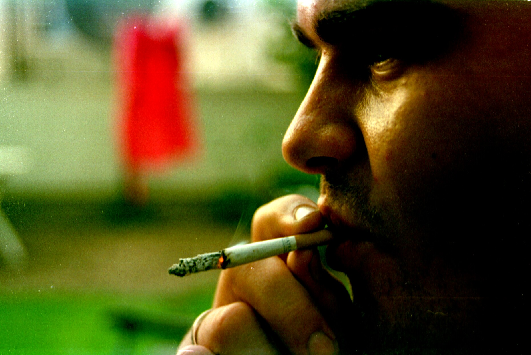 Smoker closeup