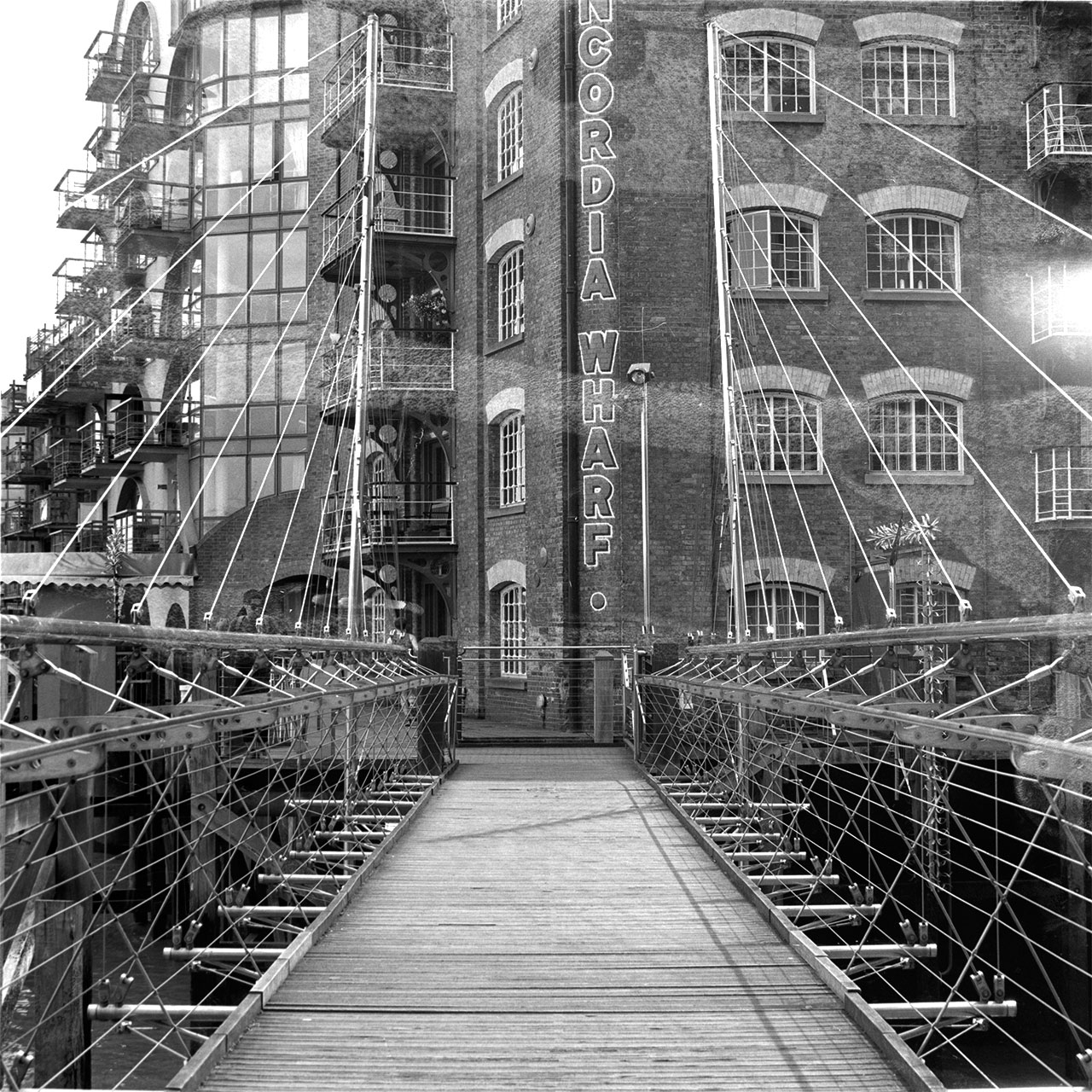 Concordia wharf bridge, London