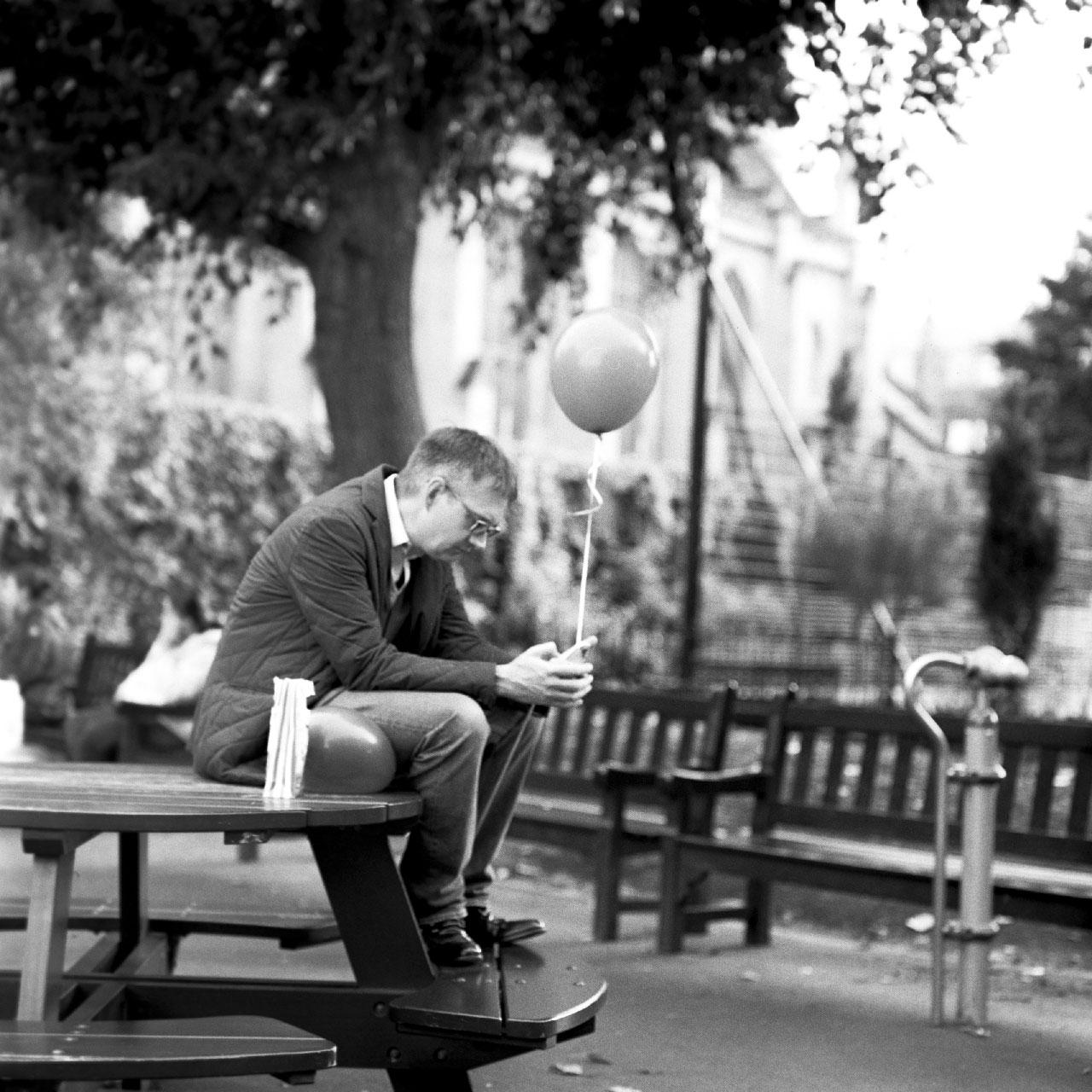 Balloon man at the playground
