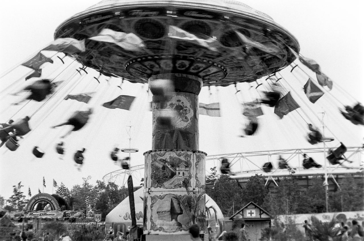 Fun fair chain carousel